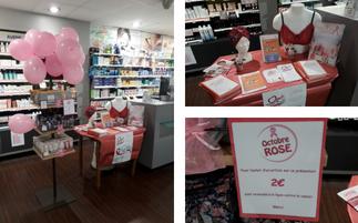 Octobre Rose à la Pharmacie Mutualiste de Calais